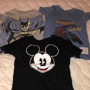 💥character tshirts 2t